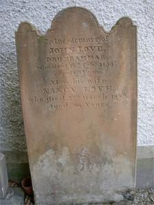 John Love & Nancy Anne McAlister Headstone