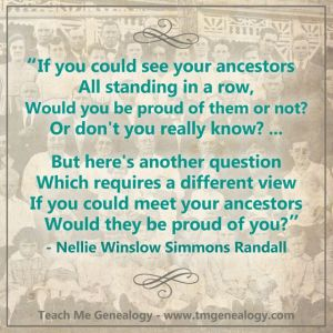 What Would Our Ancestors Think of Us!