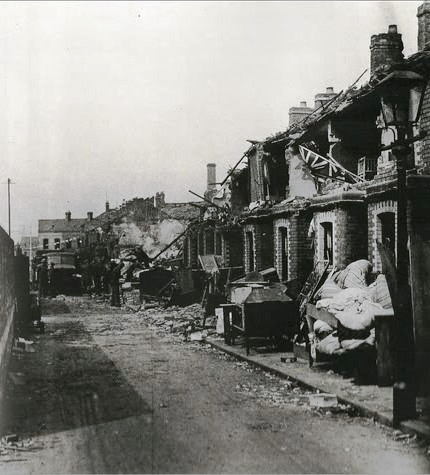 An example of the devastation left after the Blitz.