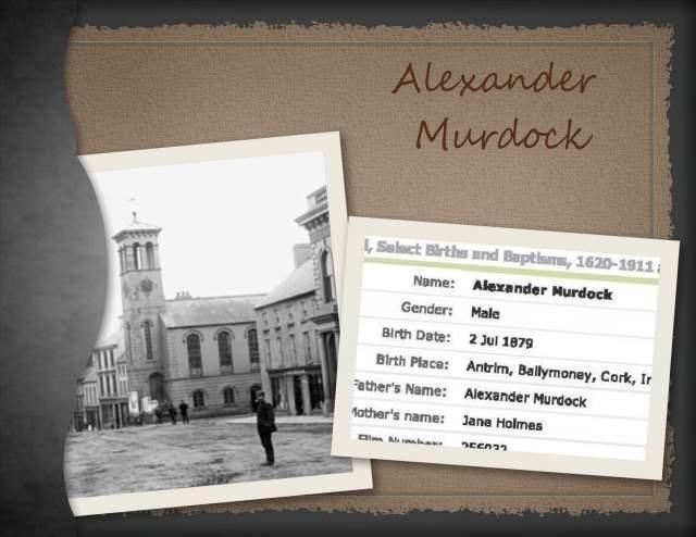 Alexander Murdock - Birth Record