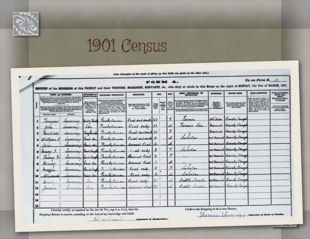 1901 Census 11 Garrowcarry, Edenacarnan, Co. Donegal