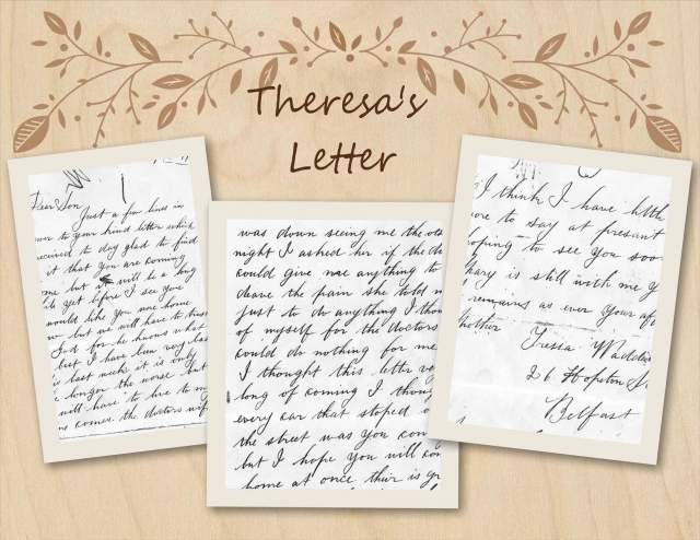 Theresa's Letter to her son John Edward