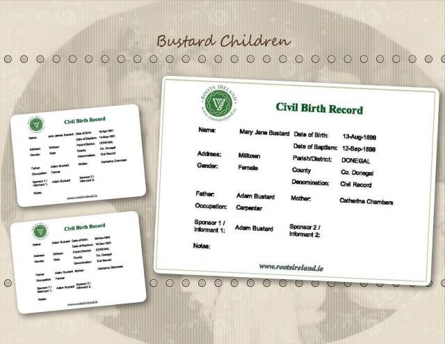 Bustard Children - Birth Records