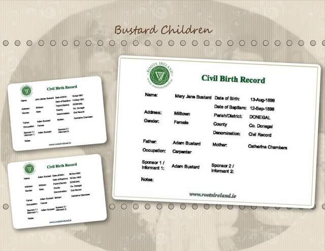 Bustard Children - Birth Records