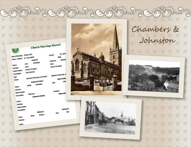 John Chambers & Catherine Johnston - Marriage Record