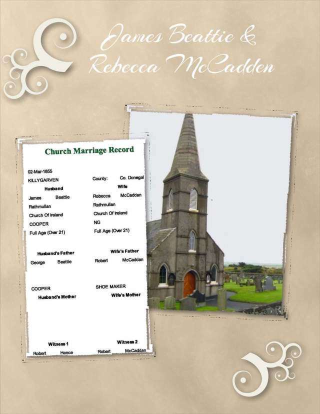 James Beattie & Rebecca McCadden - Marriage Record