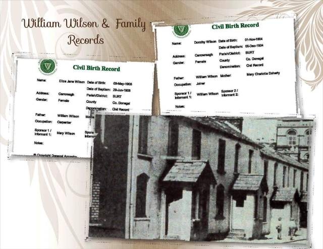William Wilson and Family Records
